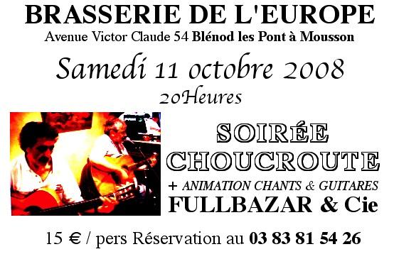 Vos dates pour vous voir en vrai , en live FlyEuropeChoucroute